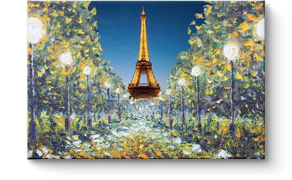 Eiffeltoren op canvas schilderij kunstwerk