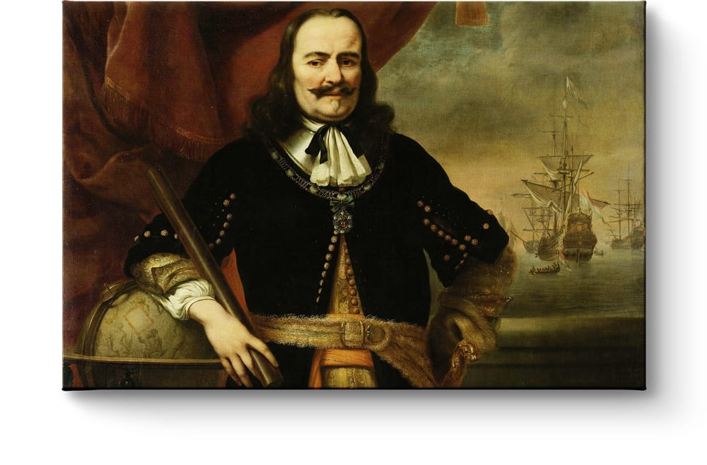 Schilderij Michiel de Ruyter van Ferdinand Bol afdruk op canvas