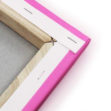 Hoe wordt een foto op canvas opgespannen?