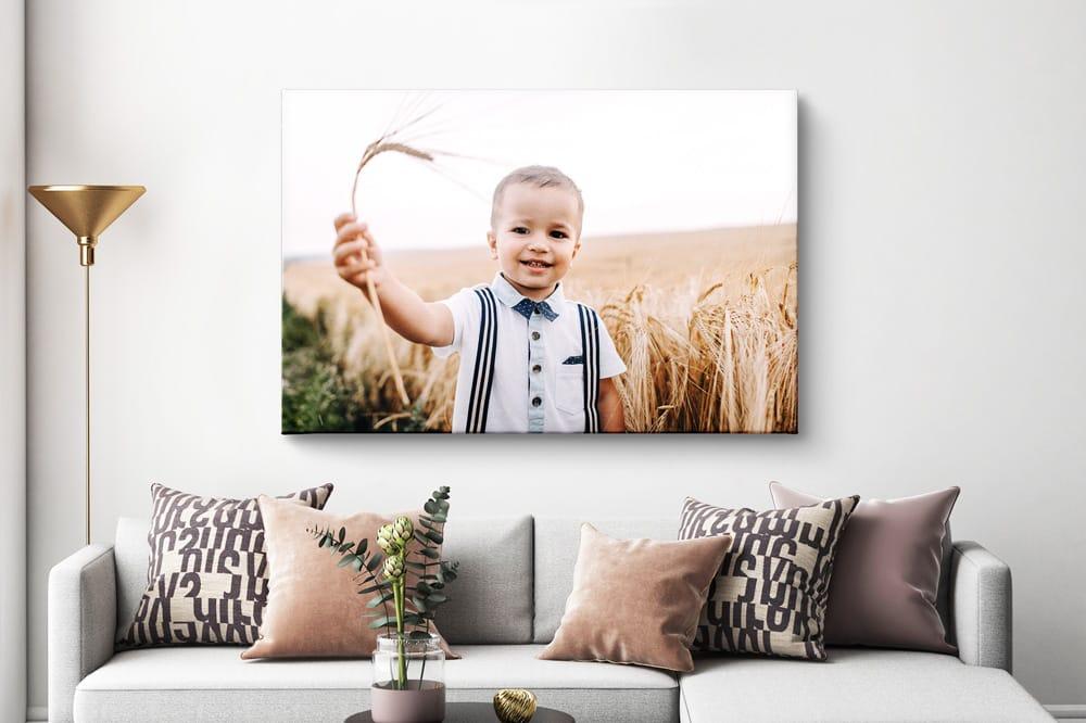 Foto op canvas correct opgehangen