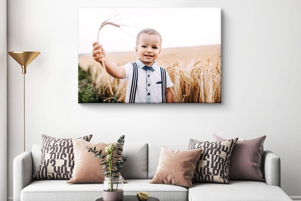 Foto op canvas te hoog opgehangen