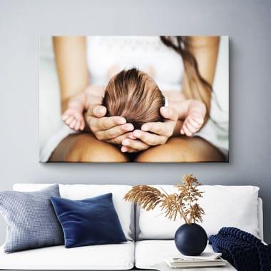 Een foto op canvas in je woonkamer
