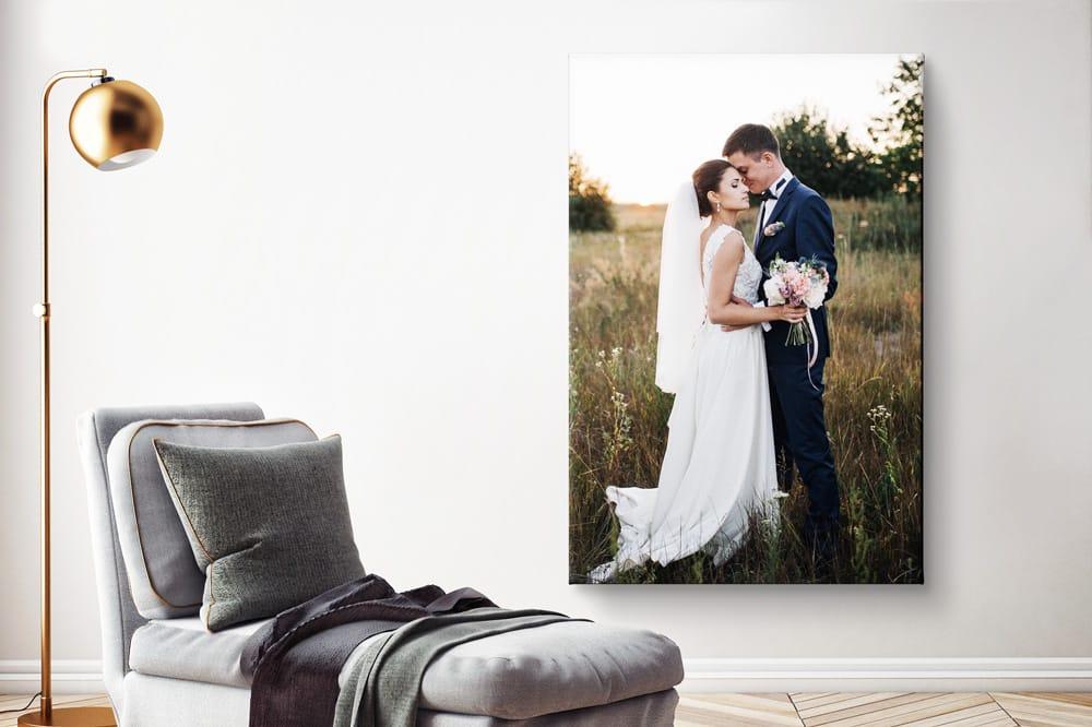 Fotoprint boven de bank