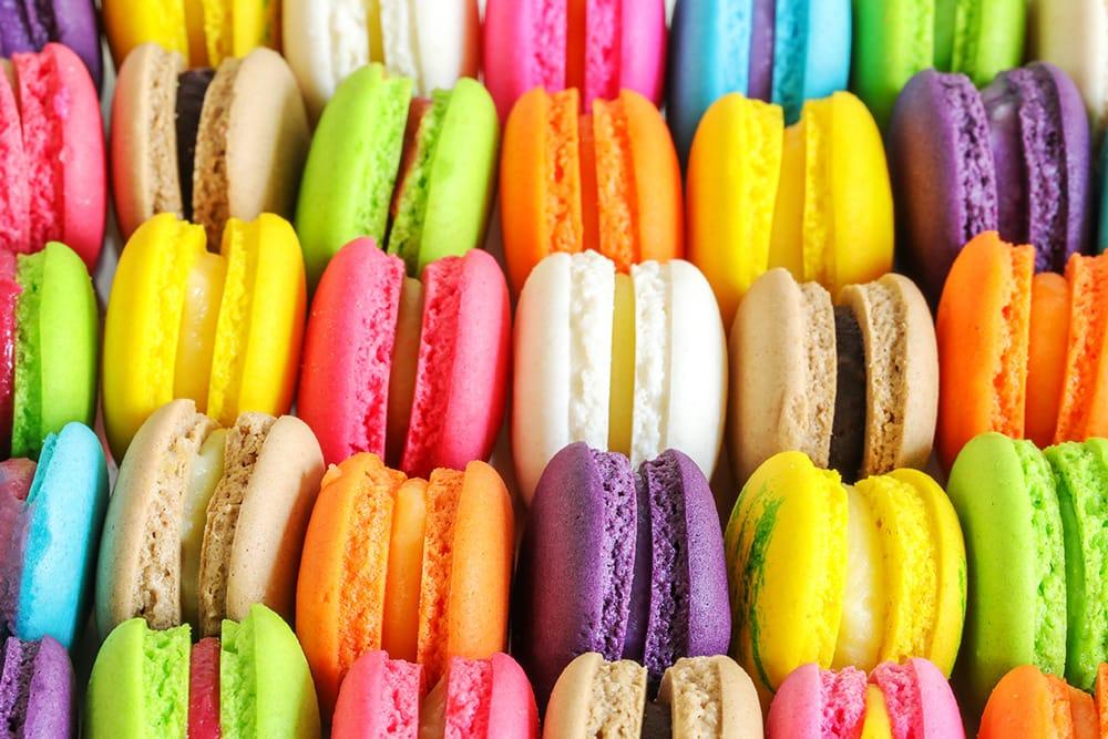 Gekleurde macarons