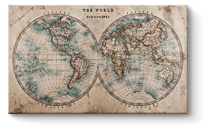 Wereldkaart Klassiek
