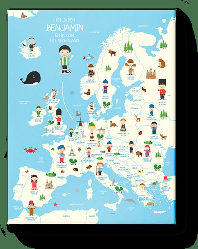 Landkaart Europa Jongens