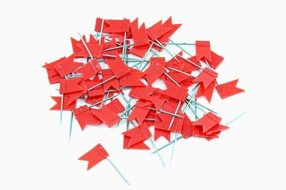 60 Rode vlaggetjes