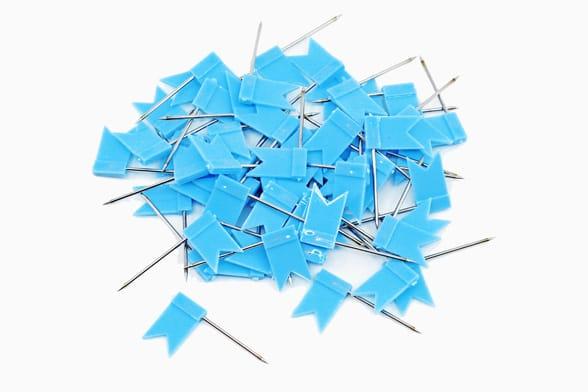 60 Blauwe vlaggetjes