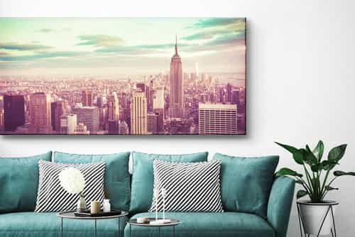Panorama foto op canvas